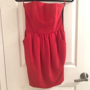 Rachel Roy Red Strapless Dress